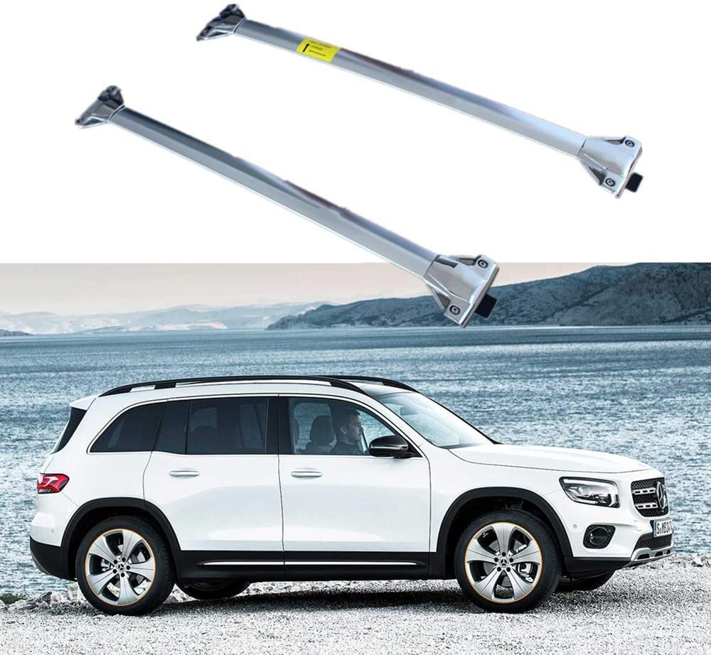 Auto Prich fits for Mercedes GLB 2020 2021 Cross bar Crossbar roof Rail Rack Stainless Steel