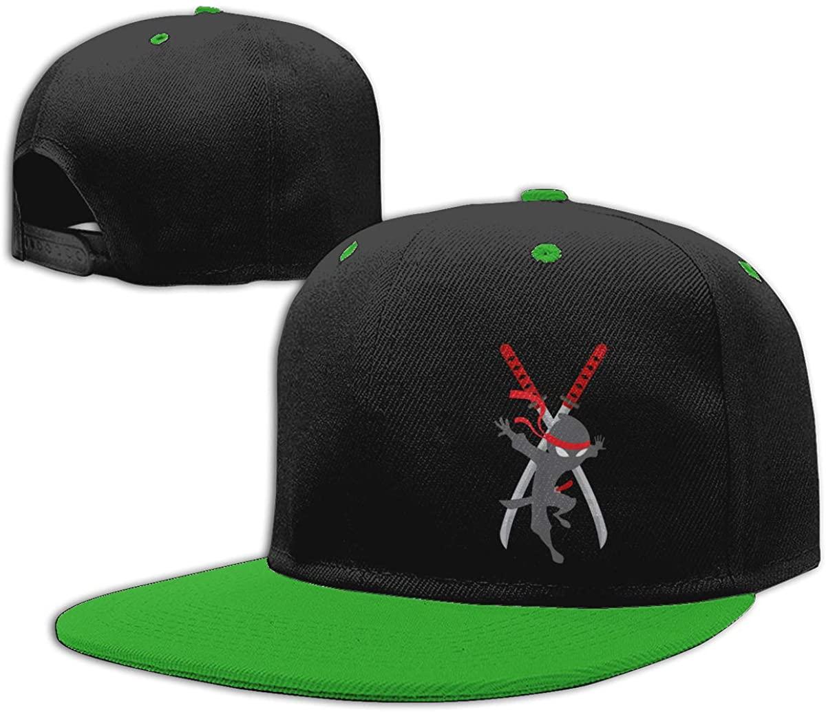 Flat Bill Hat Boys Girls Baseball Cap Snapback Flatbrim Cap Chad Wild Clay CWC Ninja