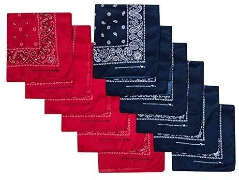 Camel Brand Bandana 12 Pack 21x21 100% Polyester