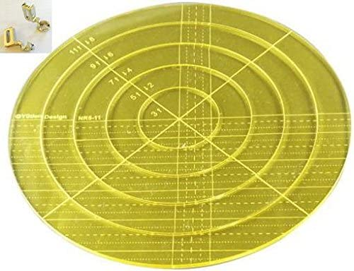 Sew-link 5mm Acrylic Patchwork Quilting Template Ruler Arc for Long Arm High Shank Machine