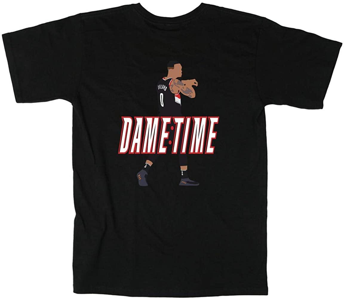 Shedd Shirts Black Portland Lillard It's Dame Time T-Shirt