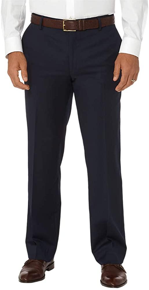 Paul Fredrick Men's Classic Fit Wool Gabardine Flat Front Pant