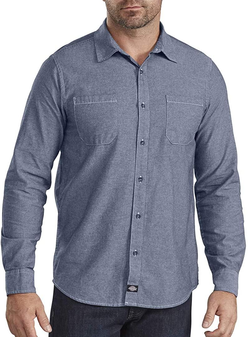 Dickies Mens Chambray Button UP Shirt …
