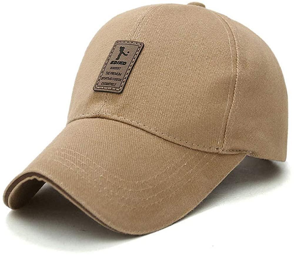 Pure Color Men's Cotton Outdoor Sport Baseball Cap Casual Sun Hat Leisure Travel Hat