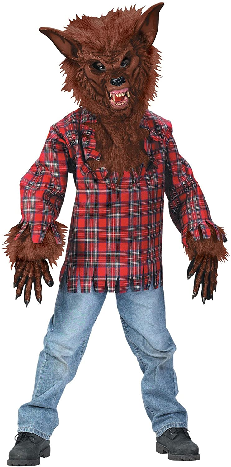 Child Brown Werewolf Costume Large (12-14)