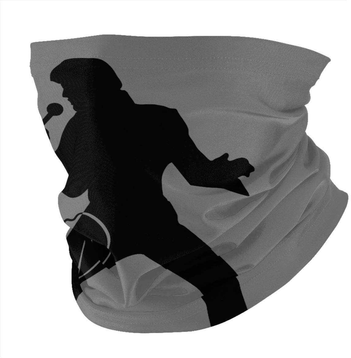 Qwertyi Elvis Presley Face Head Scarf Scarves Variety Scarf Magic Headwear of Unisex