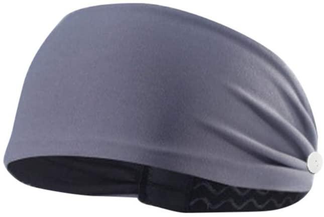 poundy bags Button Headband Sport Headband/Non-Slip Sweat Band Stretchy Headwear for Cycling Yoga Adults Woman Men