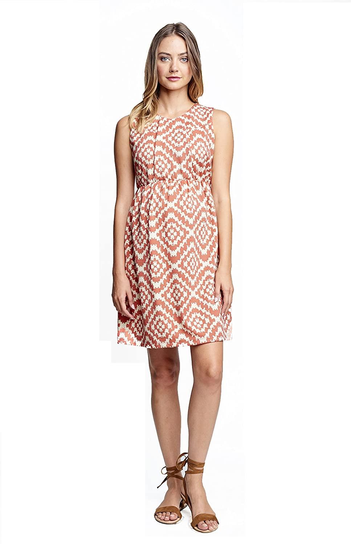 Maternal America Womens Maternity Single Pleated Dress