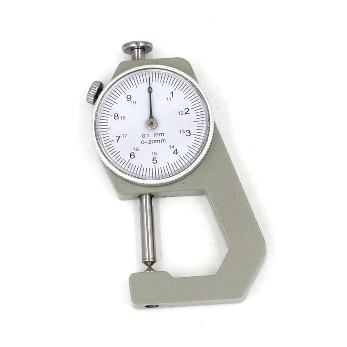 Dial Thickness Gauge 0-20mm Cusp Head Gage 0.1 Increments Inspection Tool Metric Reading