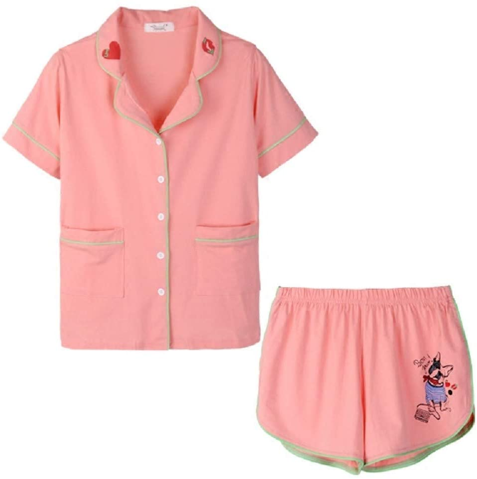 LYS Summer Modal with Chest Pad Nightdress Comfortable Short-Sleeved Pajamas,Loose Home,Photo Color,M