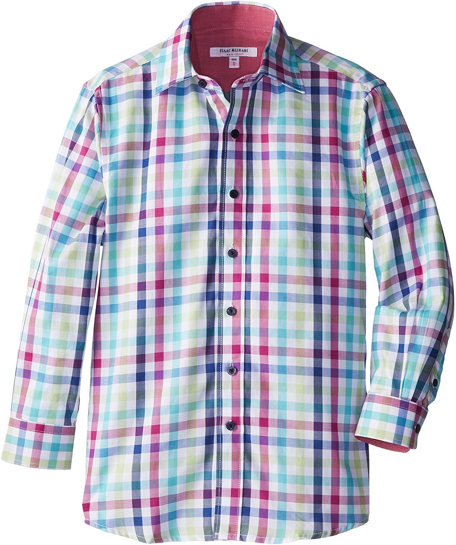 Isaac Mizrahi Big Boys' Multi-Check Shirt