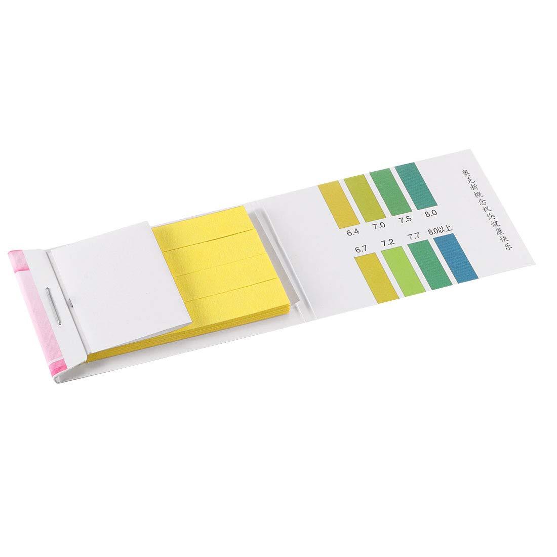 uxcell PH Test Strips 6.4-8.0 Indicator Paper Lab Litmus Tester 80in1 Kit for Water Food Pool Aquarium Testing Alkaline Acid