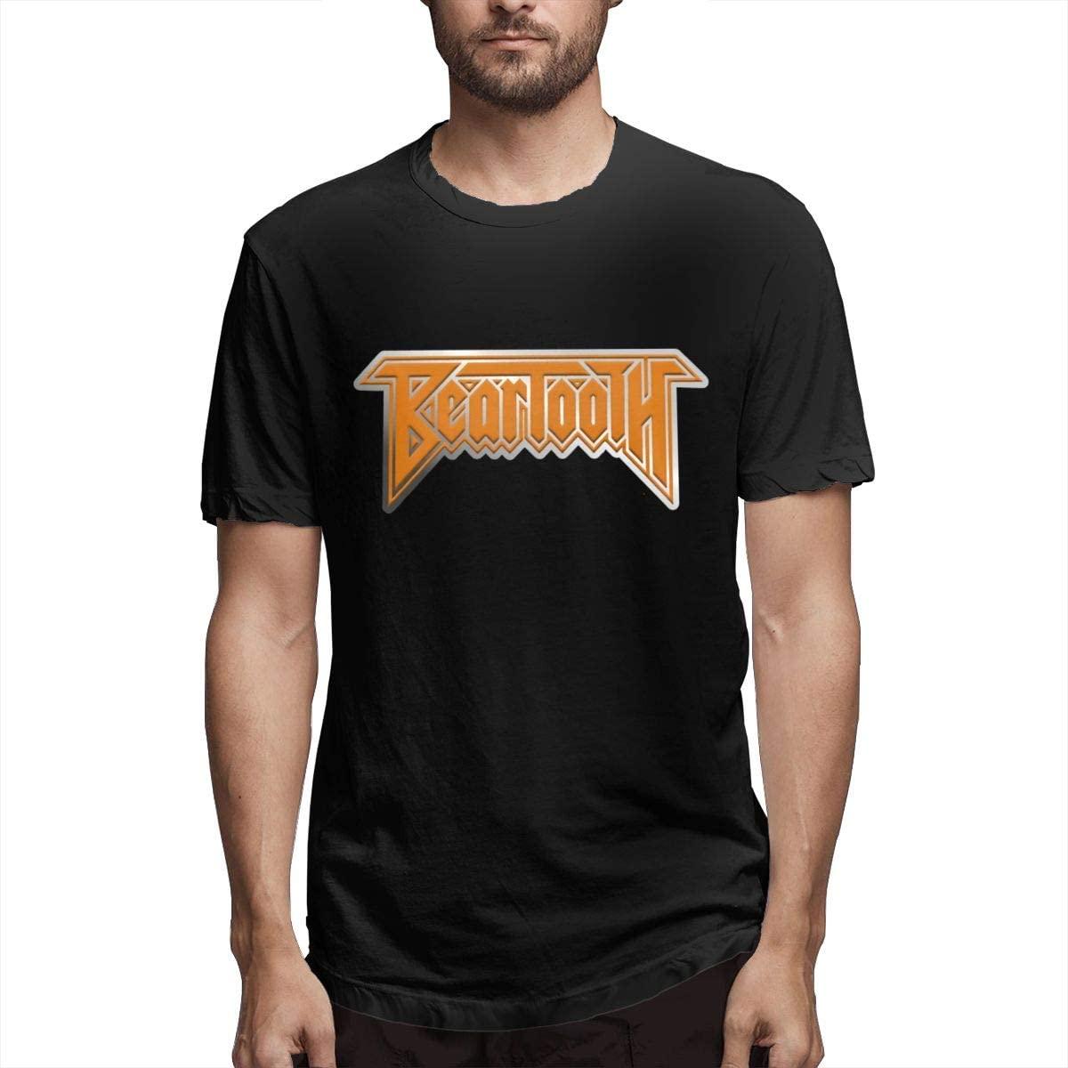 Wbenda Beartooth Mens Short Sleeve T-Shirts Crew Neck Cotton Casual Tee Undershirt Black