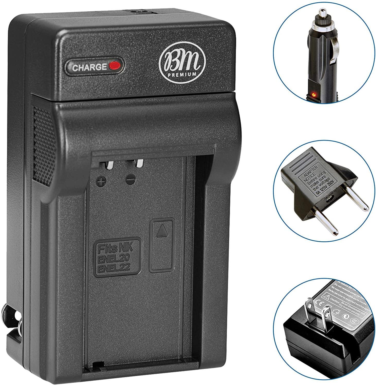 BM Premium EN-EL20, EN-EL20A Battery Charger for Nikon Coolpix P950, P1000, DL24-500, Coolpix A, 1 J1, 1 J2, 1 J3, 1 S1, 1 V3 Digital Camera + More!!