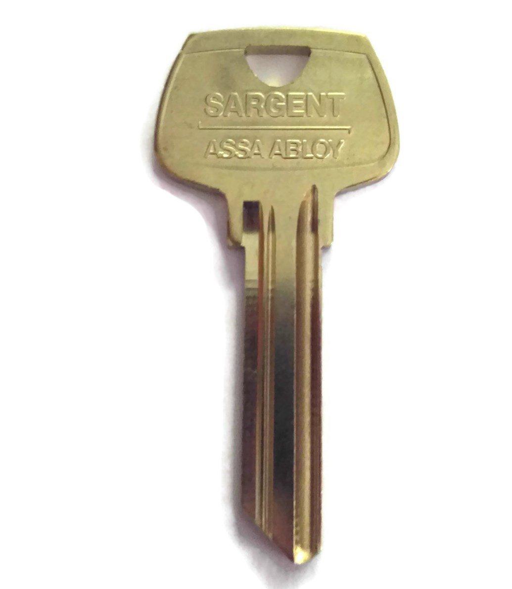 Sargent 6 Pin Key Blank 6270 RM Keyway, Pkg of 10, Factory Original