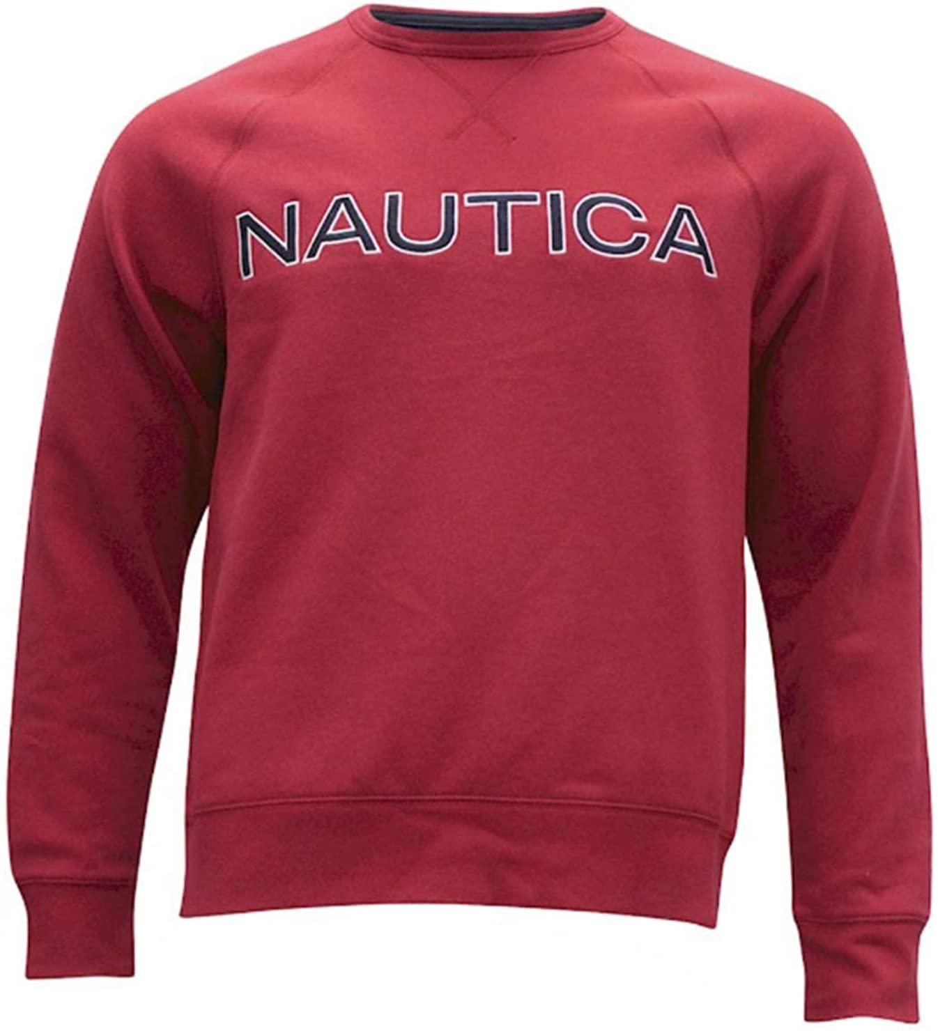 Nautica Men's Fleece Long Sleeve Crew Neck Sweatshirt