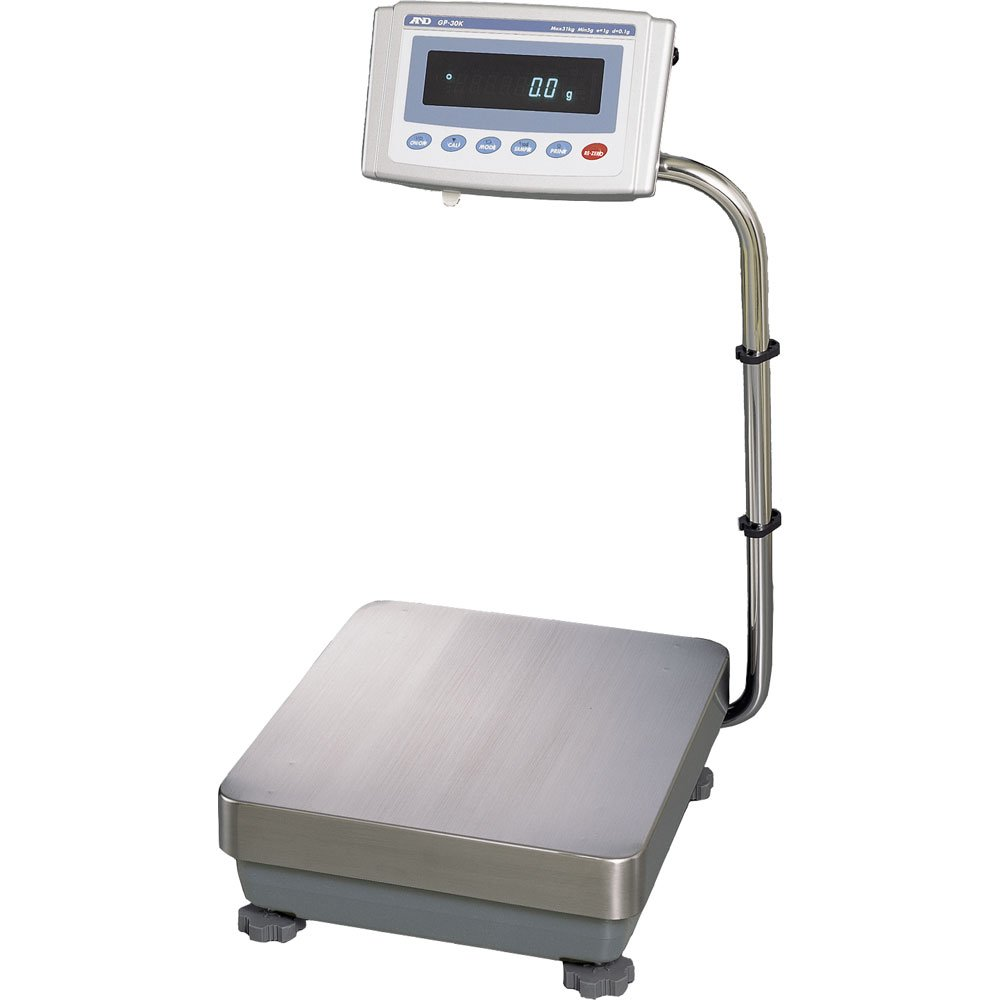 A&D Weighing GP-32K Washdown Industrial Scale with Dual Range 6kg/31kg x 0.1g/1g
