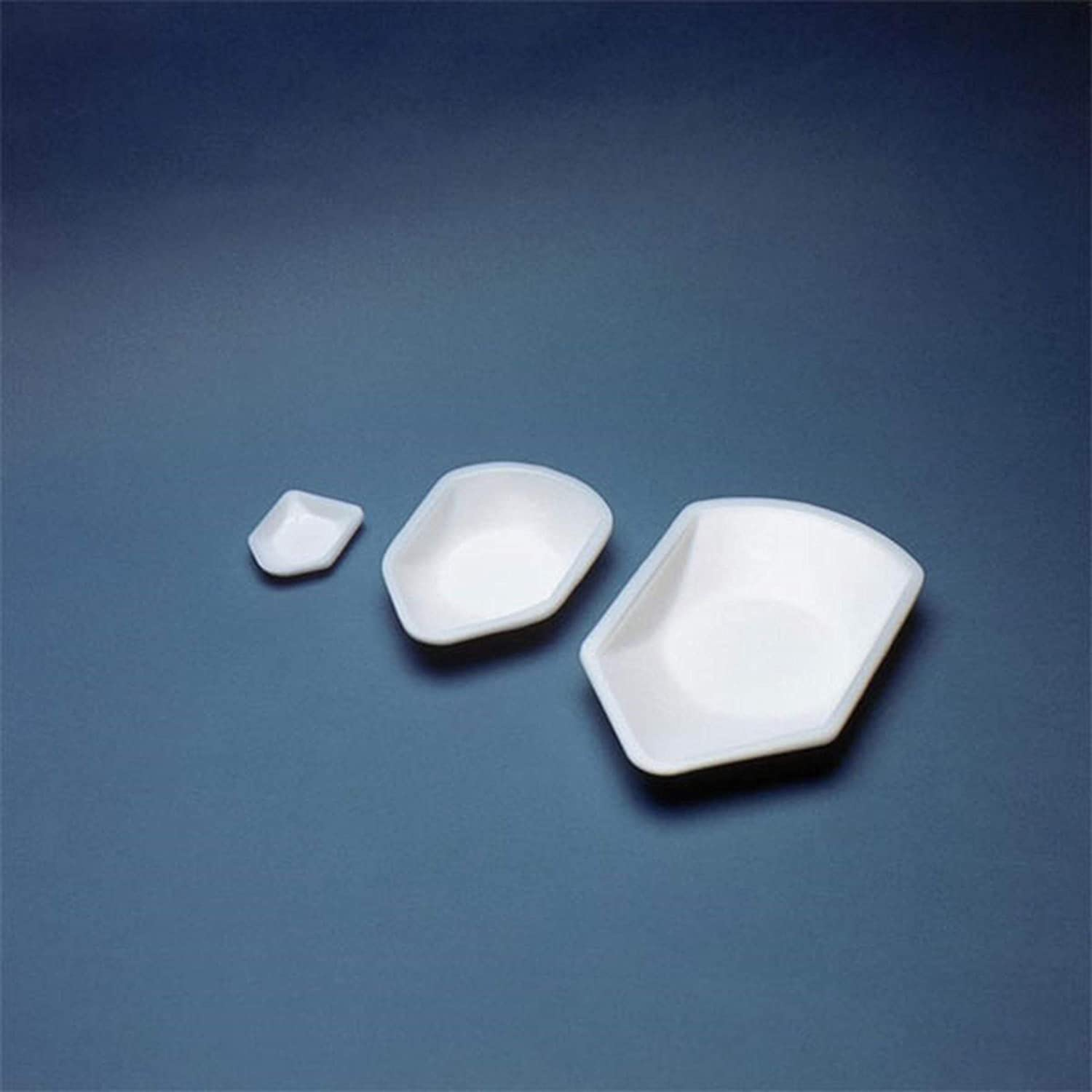 EAGLE THERMOPLASTICS PB-316 Pour-Boat Polystyrene Weighing Dish with Pour-Spout, Small Size, 2-1/4