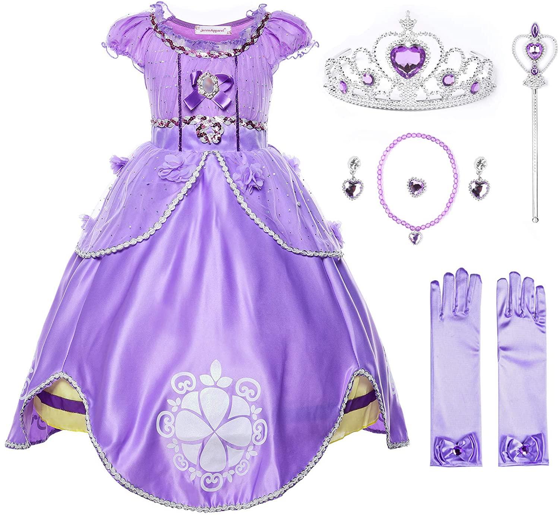 JerrisApparel Girls Princess Costume Floor Length Birthday Party Dress up