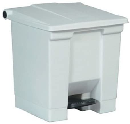 Rubbermaid Commercial - Step-On Containers 8 Gal. White Step-On Container: 640-6143-Wht - 8 gal. white step-on container