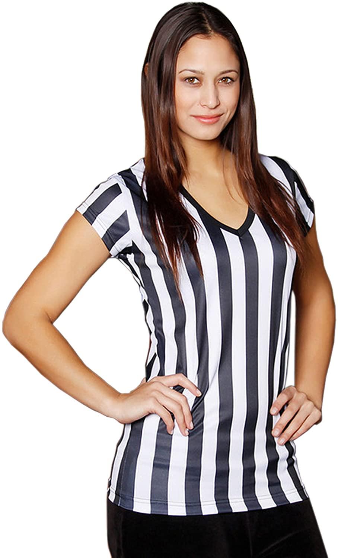 Mato & Hash Womens Referee Shirts | Comfortable V-Neck Ref Shirt for Waitresses, Refs, More!