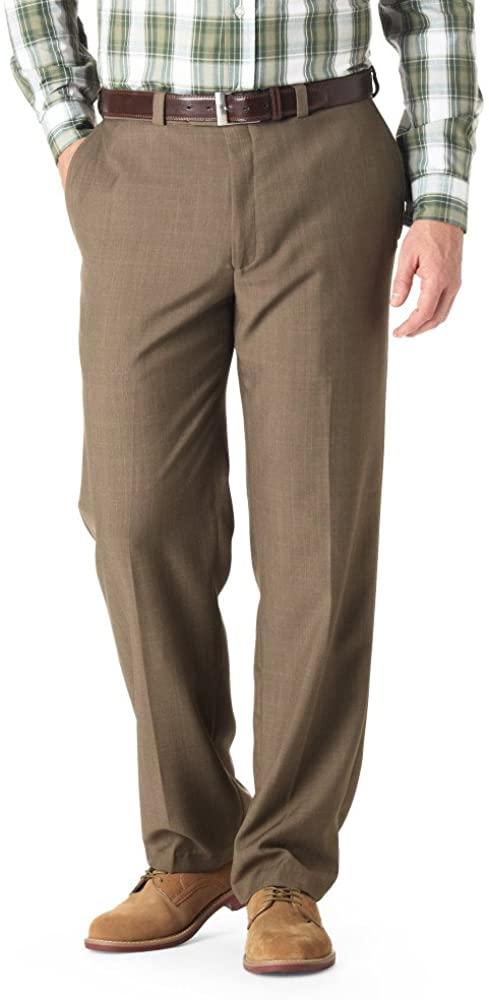 Haggar Repreve Flat Front Dress Pant (40x31, Khaki)