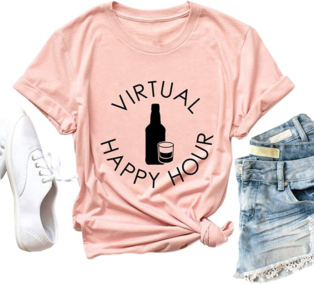 INMOON Women This is My Drinking Shirt I Wear it Everyday Tshirt Funny Day Drink Shirt for Beer Lover