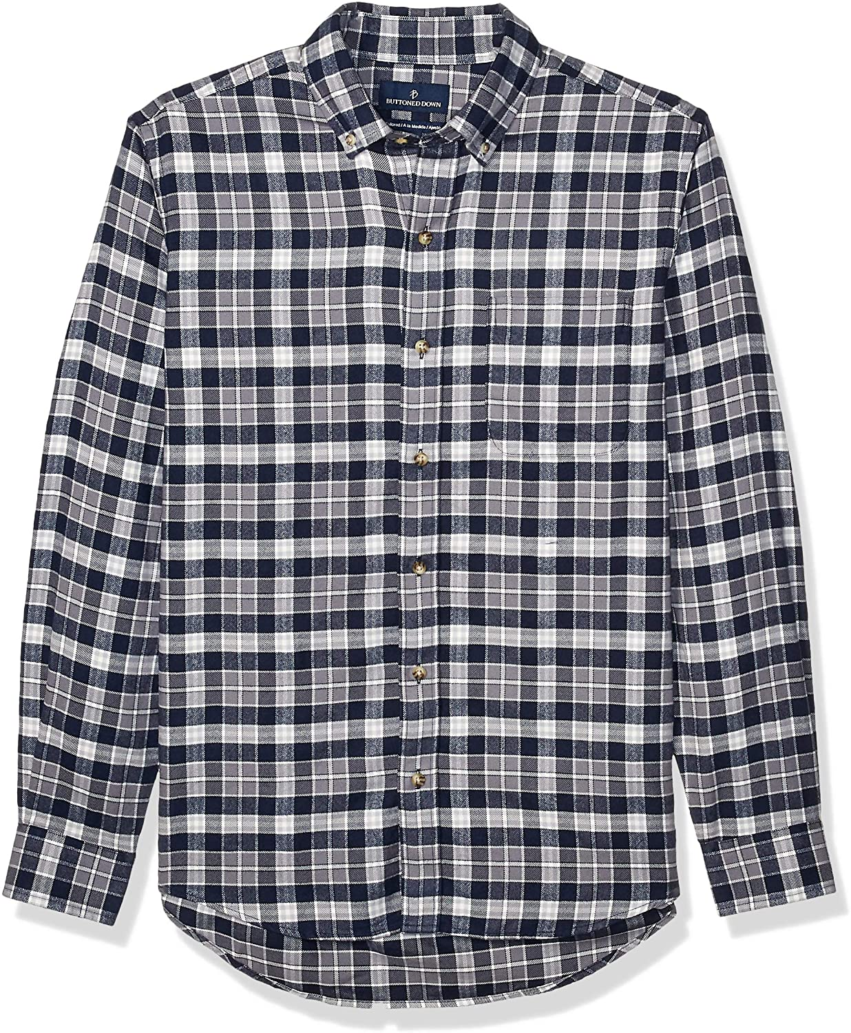 DHgate Brand - Buttoned Down Men's Tailored Fit Supima Cotton Plaid Flannel Sport Shirt