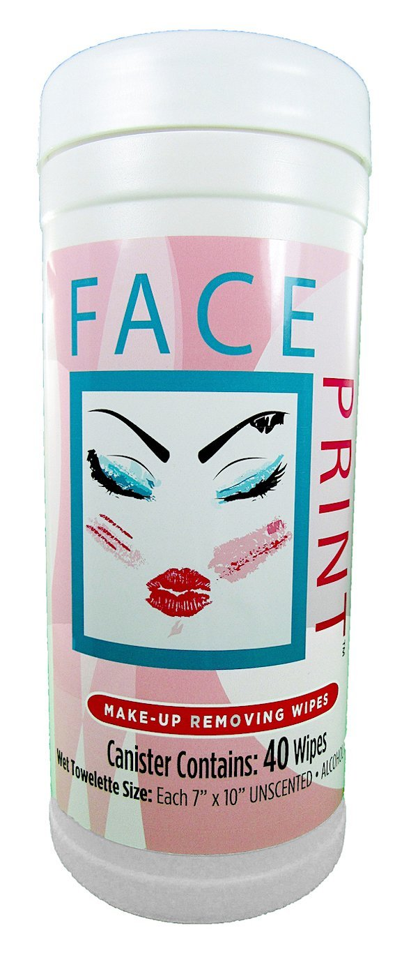 Face Print (New!) Premium Makeup Remover and Cleansing Wipes 40ctOn Sale