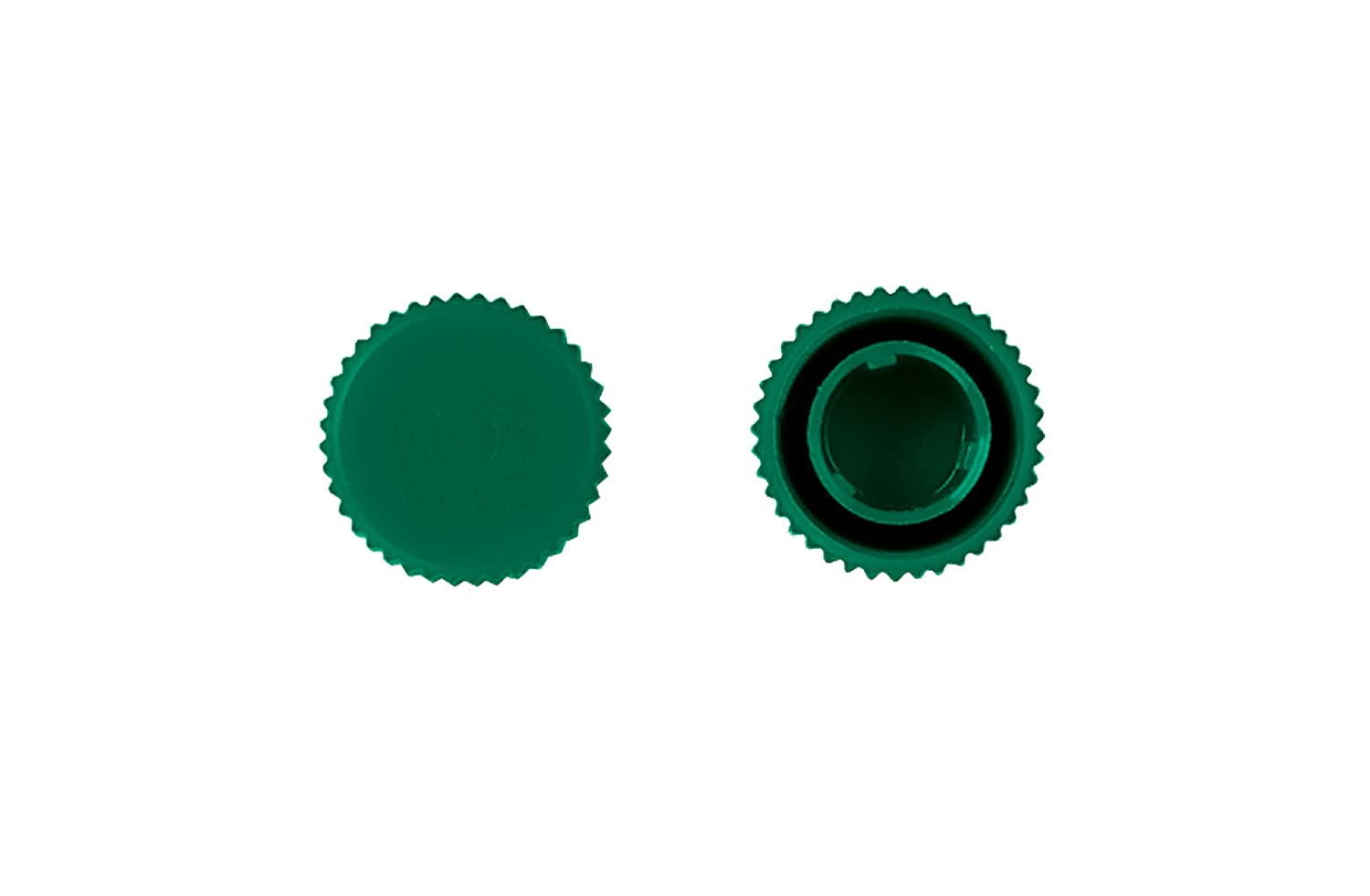 MBP Screw Cap with O-Rings, Green, Non-Sterile (Case of 5000)