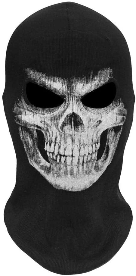 wovemster Halloween Face Mask - Skeleton Headgear, Scary Horror Costume Cosplay Accessories, Scary Masks for Festival Party Carnival Costume Halloween Cosplay