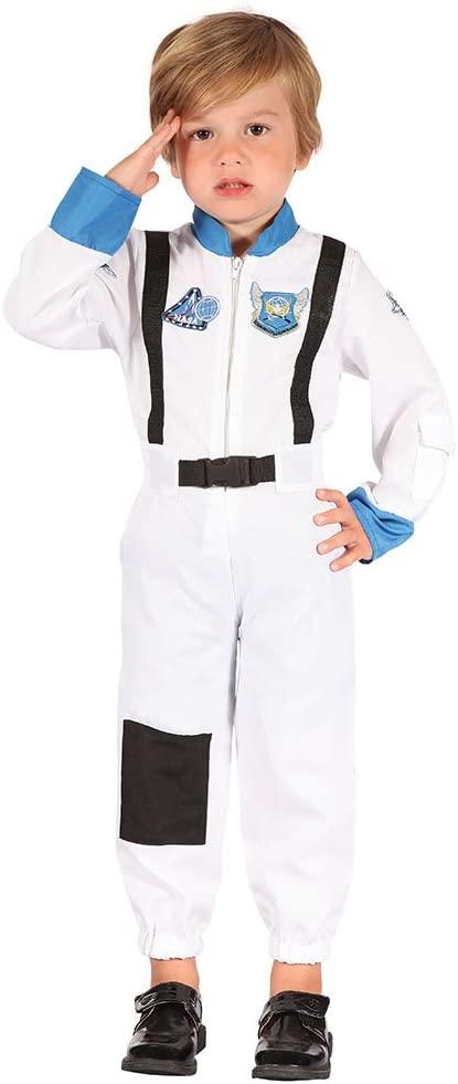 Bristol Novelty CC065 Astronaut Toddler Costume, Black, X-Small