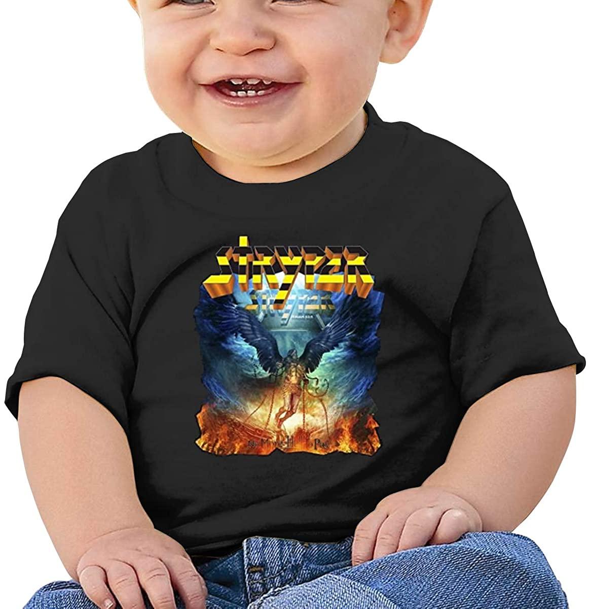 6-24 Months Boy and Girl Baby Short Sleeve T-Shirt Stryper Elegant and Simple Design Black