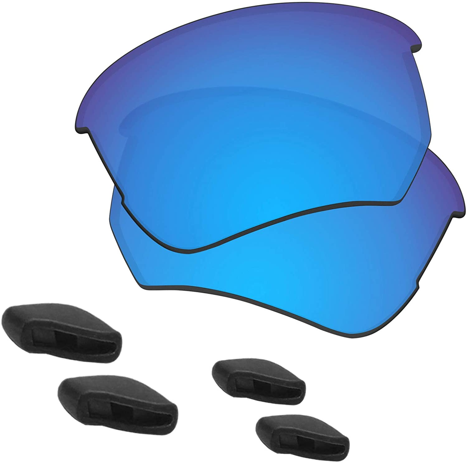Predrox Flak Beta Lenses & Nose Pieces Replacement for Oakley OO9363 Polarized