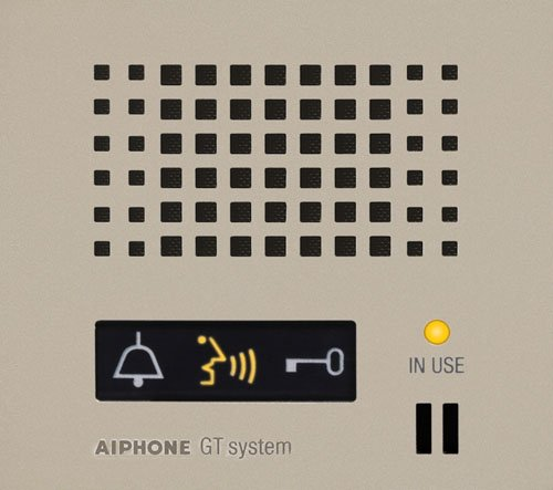 Aiphone Corporation GT-DP-L Audio Panel for GT Series, Multi-Tenant Intercom, Entrance Stations, Fire Retardant, ABS Plastic Construction, 4-5/16
