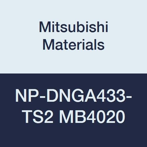 Mitsubishi Materials NP-DNGA433-TS2 MB4020 CBN DN Type Petit Tip Negative Turning Insert with Hole, General Cutting Rhombic 55°, Grade MB4020, TS Honing/No Wiper, 2 Tip, 0.047