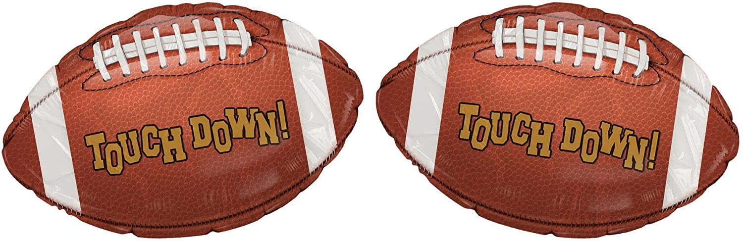 2PACK Football Balloon Sports Themed Party Decorations America Football Balloons Baby Shower Gender Reveal Birthday Party Supplies