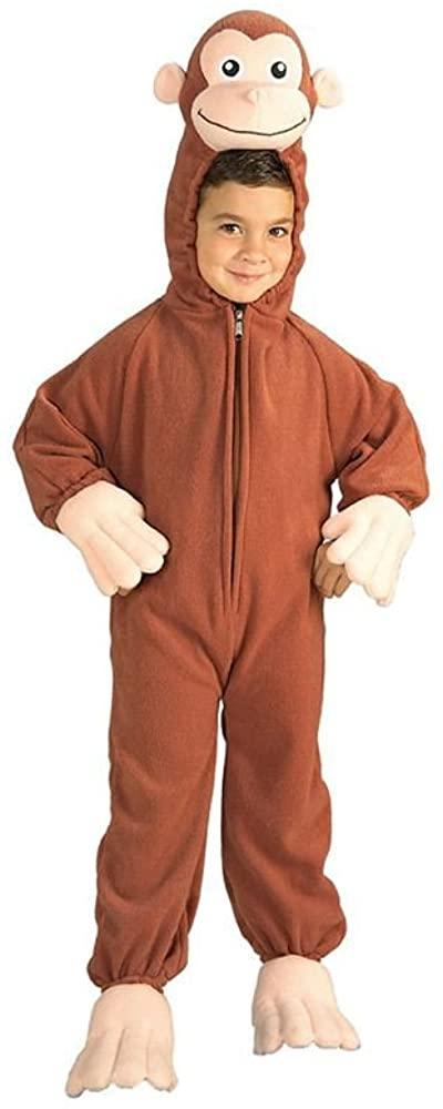 Curious George Fleece Toddler Costume 2T-4T