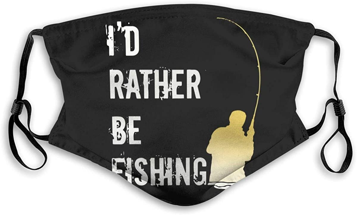 I'd Rather Be Fishing mask Facial Decoration with 2 Filter