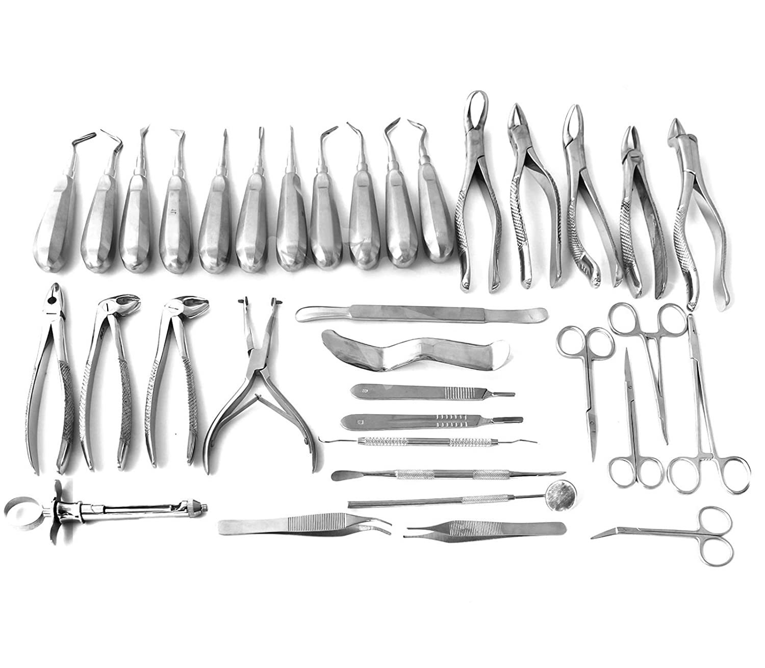 35 PCS ORAL DENTAL EXTRACTION EXTRACTING ELEVATORS FORCEPS BY SURGICALONLINE