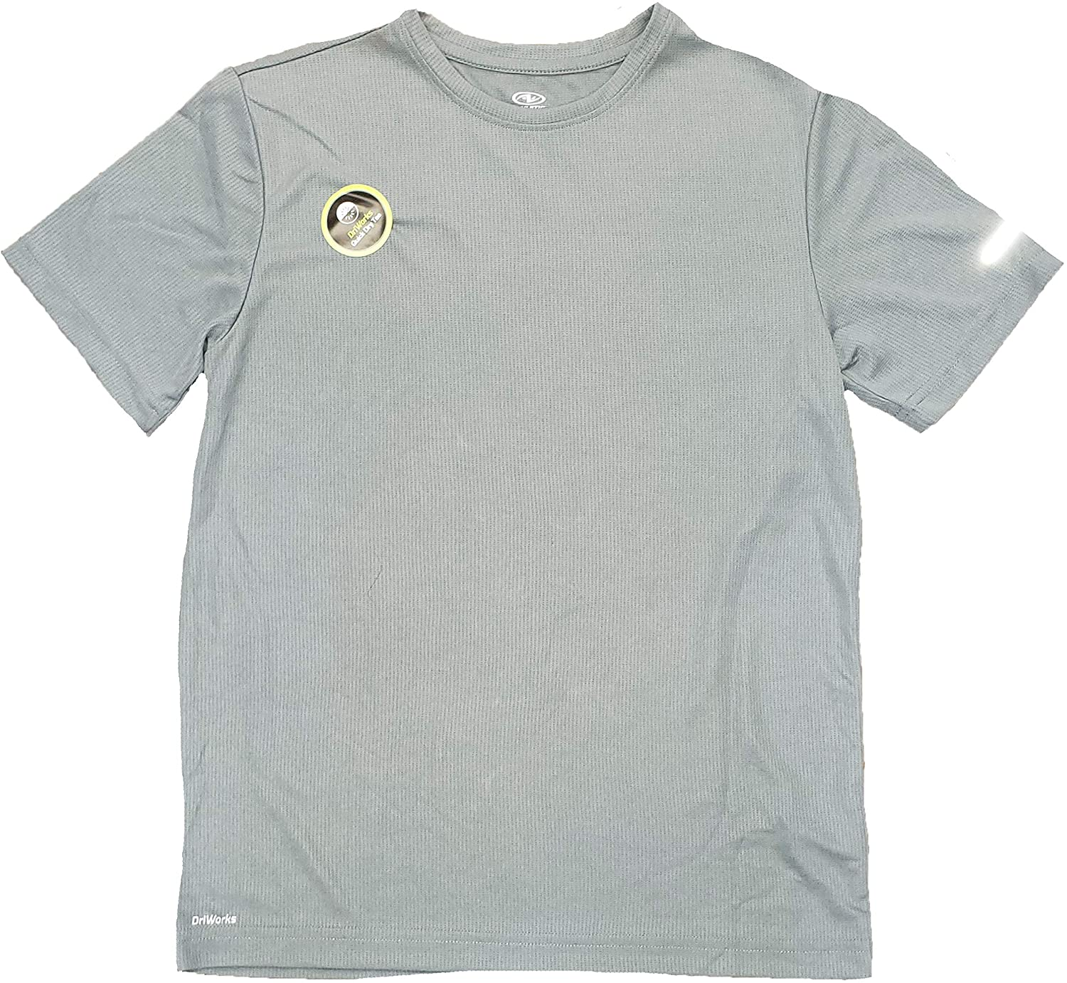 Athletic Works Gray Flannel Active Moisture Wicking Performance Tee Shirt