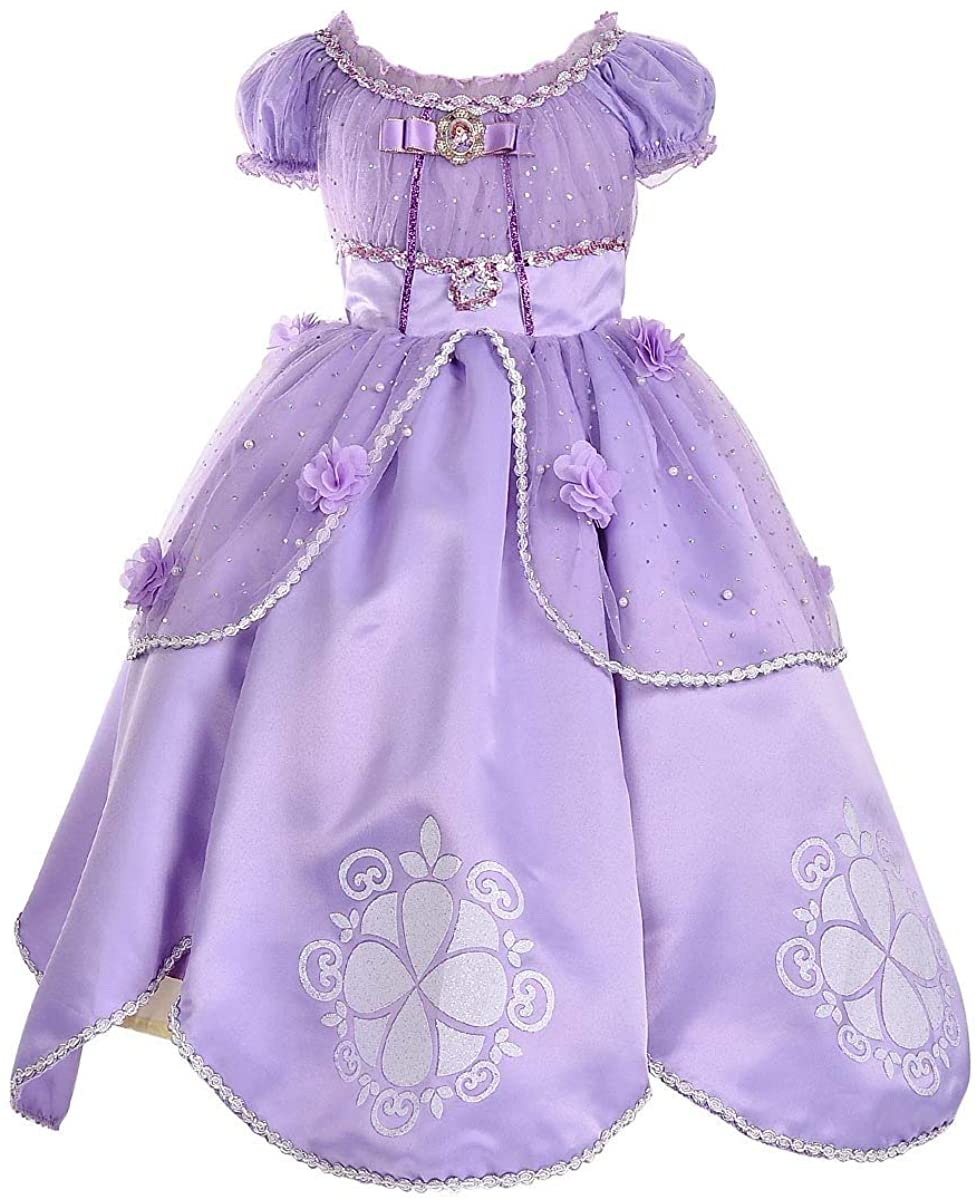 SMITH SURSEE Princess Sofia Dress Up Costume Cosplay Dress for Girls …
