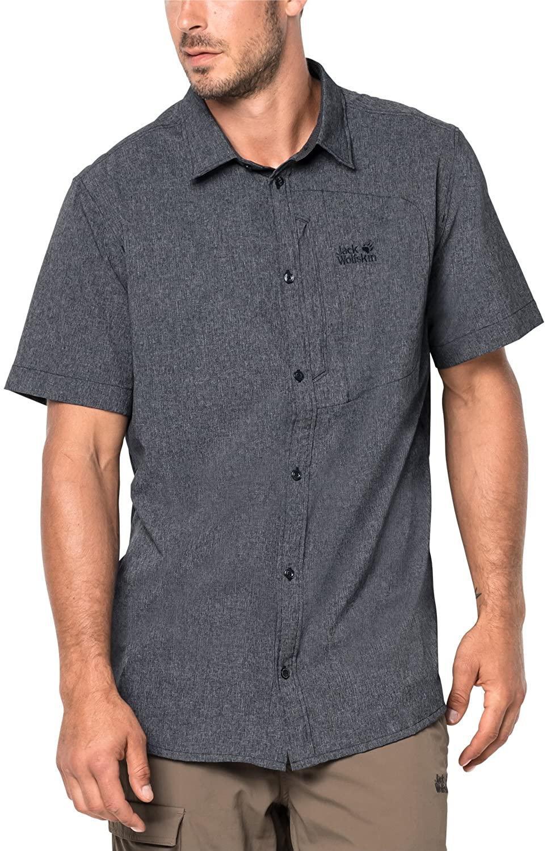 Jack Wolfskin Men's Barrel Shirt Short Sleeve, XX-Large, Night Blue
