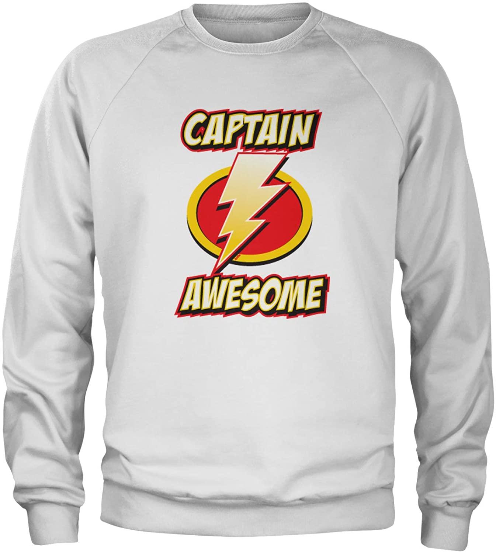 Expression Tees Captain Awesome Crewneck Sweatshirt