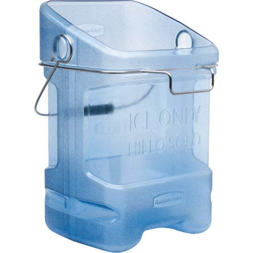 Rubbermaid Commercial Ice Bucket Tote with Bin Hook Adapter, 5-1/2 Gallon, Blue FG9F5400TBLUE (Renewed)