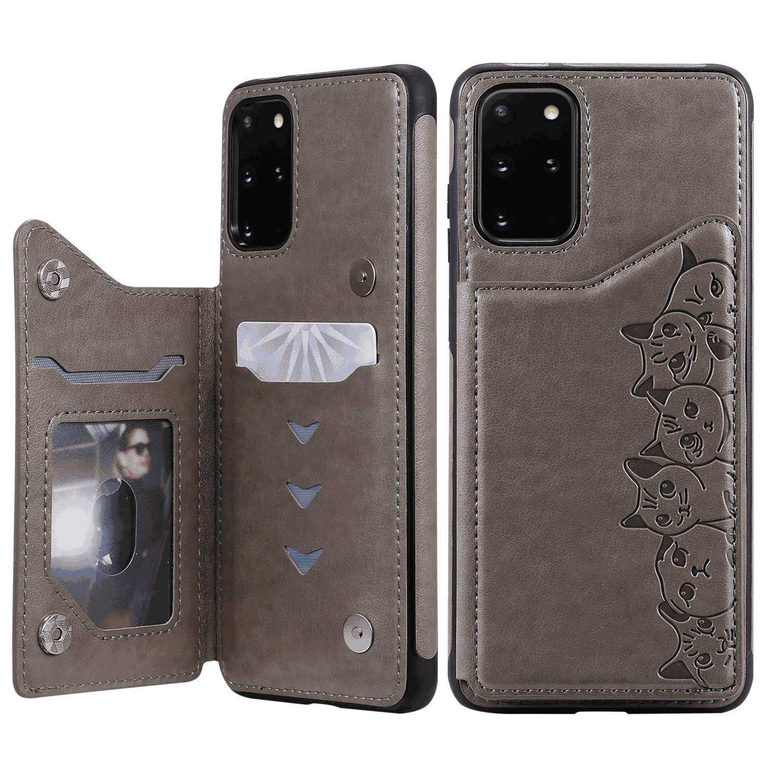 Positive Cover Compatible with iPhone 11, gray PU Leather Wallet Flip Case for iPhone 11