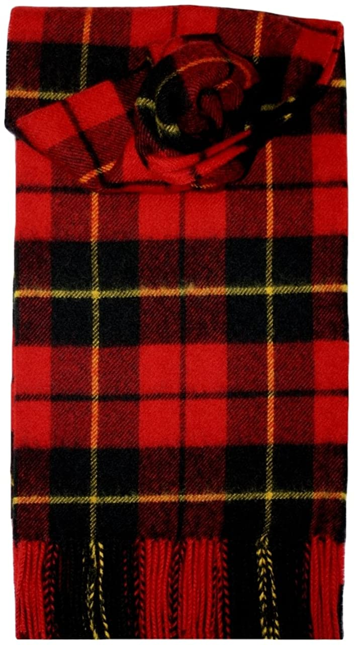 Wallace (Red) Tartan Lambswool Scarf