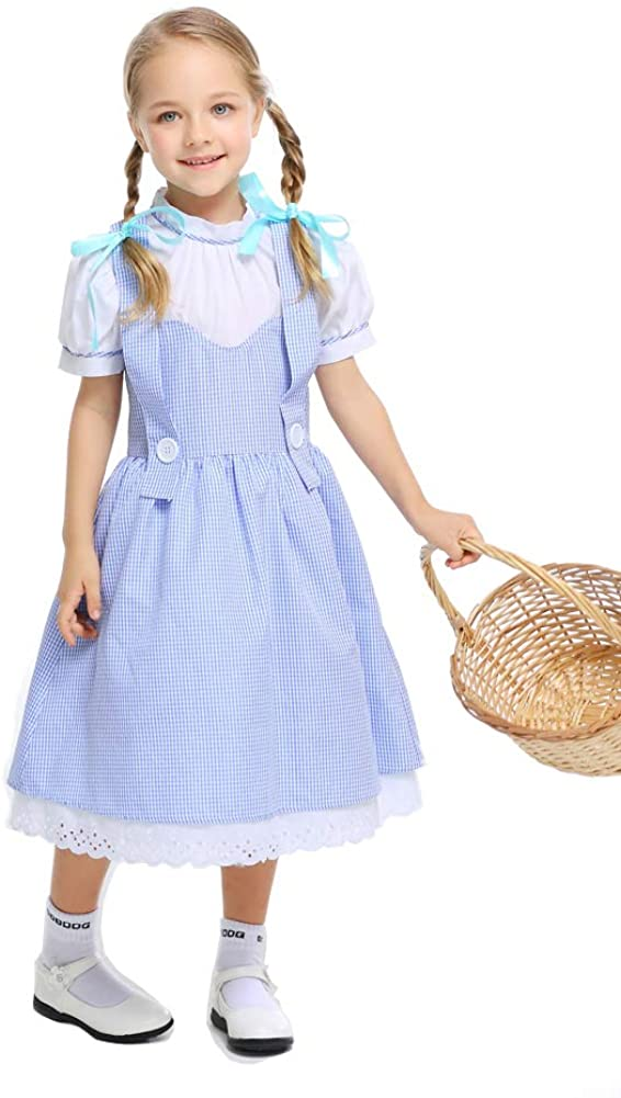 yolsun Dorothy Costume for Girls, Kids' Wizard of Oz Role Play Dress up