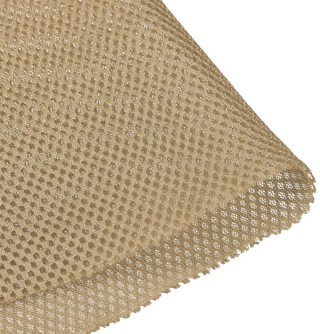 uxcell Light Khaki Speaker Mesh Grill Stereo Fabric Dustproof 1x1.45M 40 x 57 inch