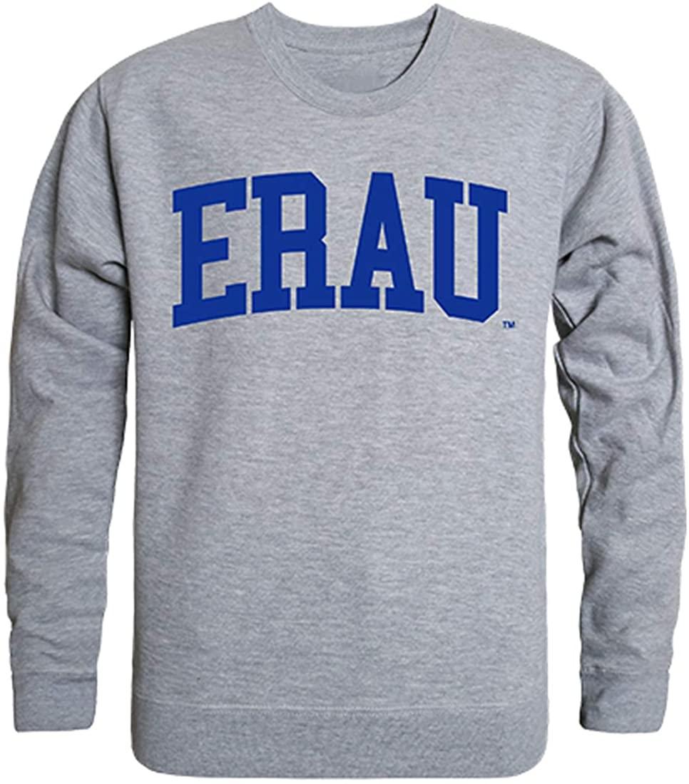W Republic ERAU Embry Riddle Aeronautical University NCAA Men's Game Day Crewneck Fleece Sweatshirt